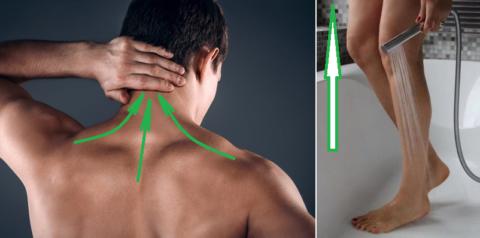Направления массажных линий и движений при гипотонической болезни
