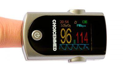 Фото наглядно отражает пример того, как может выглядеть дисплей пульсометра в момент работы.