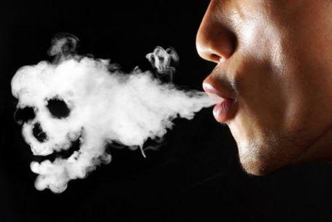 Табачный дым вызывает дефицит кислорода в организме.