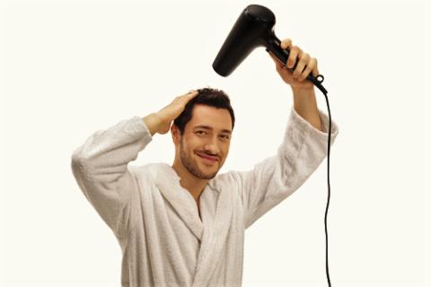 Головную боль возможно поможет снять небольшое прогревание тёплым воздухом из фена