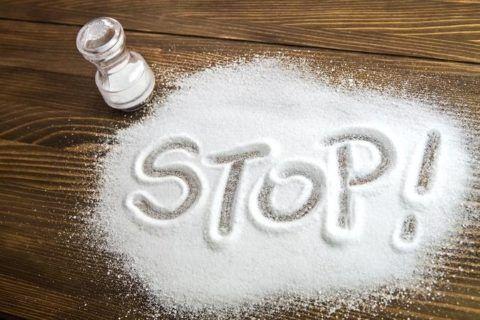 Снижение употребления поваренной соли.