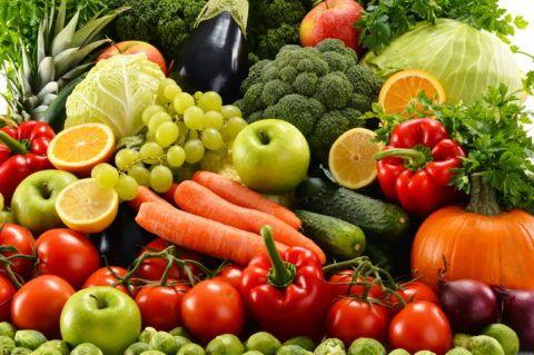 Овощи – источник клетчатки.