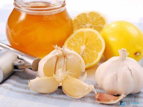 Эмульсия с чесноком, лимоном и медом