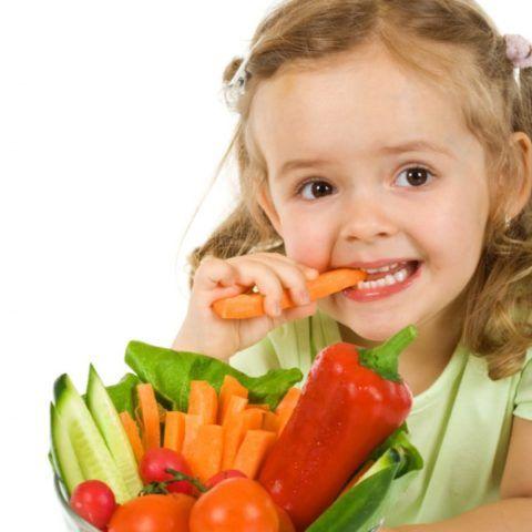 Ребенку нужны полезные продукты