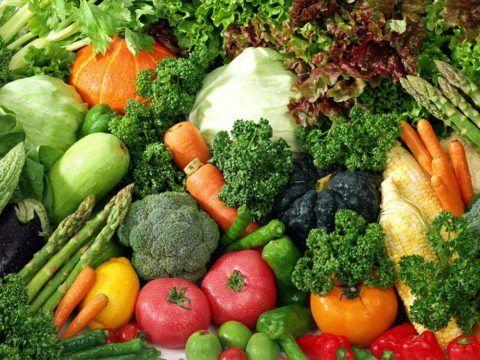 Рацион больного должен быть насыщен растительными продуктами